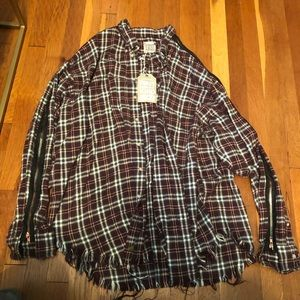 NWT LF Furst of a Kind Flannel with Zipper Trim